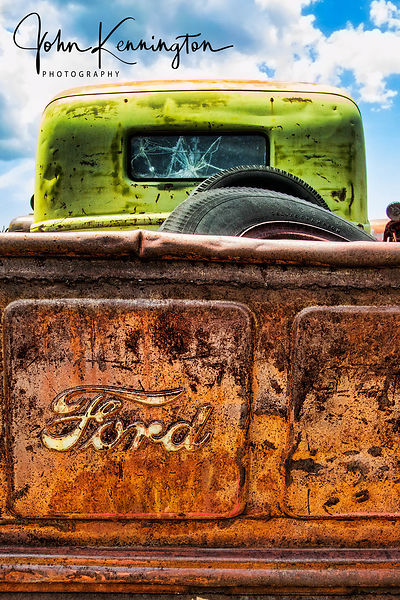 Ford Tailgate, Route 66,, Moriarty, New Mexico