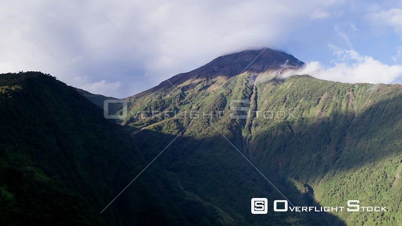 Volcano Tungurahura from Swing at the end of the world, Baños de Agua Santa, Ecuador.