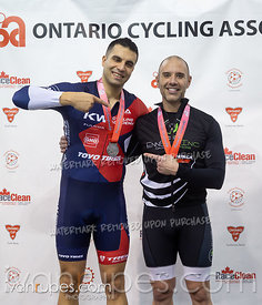 Master A Men Sprint Podium. 2020 Ontario Track Championships, March 7, 2020