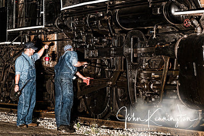 Working on the Steam Engine, Rusk, Texas