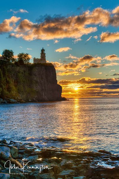 Split Rock Lighthouse Sunrise, Lake Superior, Two Harbors, Minnesota