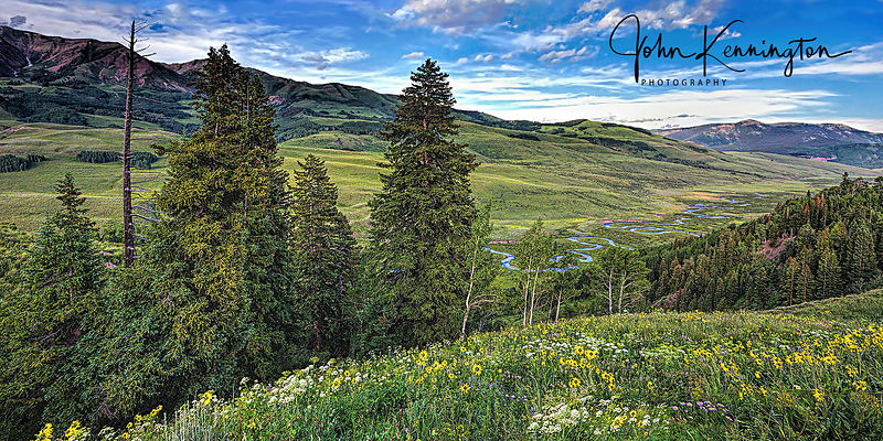 East River Valley Panoramic, Crested Butte, Colorado