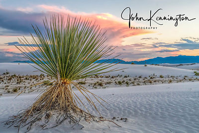 White Sands Sunset, White Sands National Monument, New Mexico