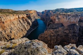 Dramatic Overlook from Sullivan's Knob Trail in Bighorn Canyon
