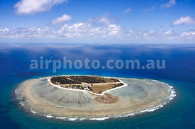 Aerial view of Lady Elliott Island, Great Barrier Reef.