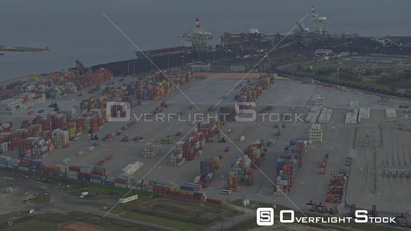 Mobile Alabama birdseye view of the ports and commercial areas of the city and river  DJI Inspire 2, X7, 6k