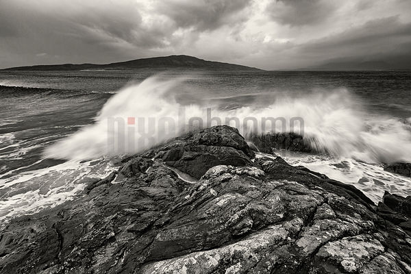 Breaking Wave on Rocky Foreland