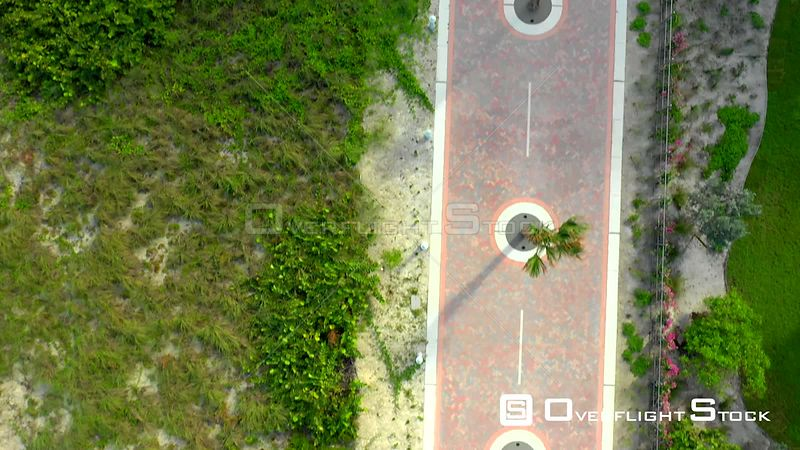 Atlantic Greenway Miami Beach direct overhead video 4k