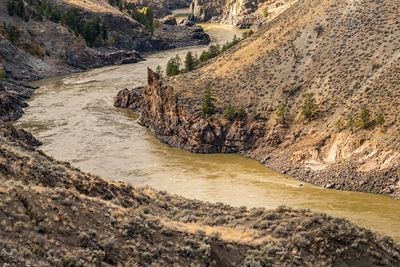 Sediment rich waters in the Fraser River Canyon