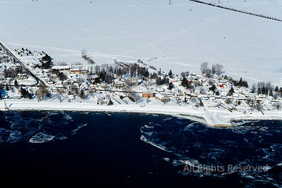 Village de Champlain in Winter Quebec Canada