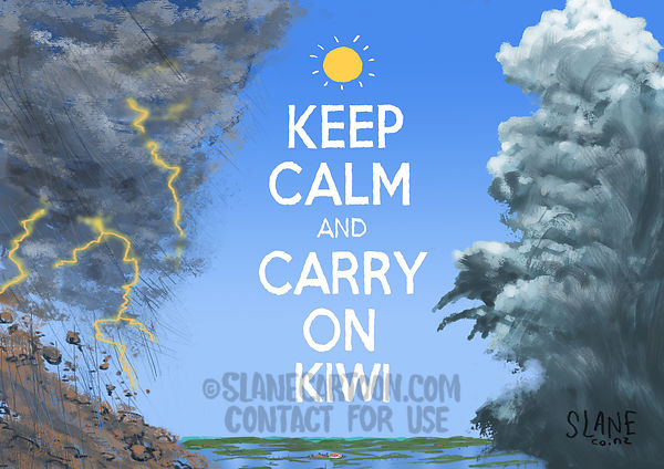 Keep Calm and Carry On Kiwi