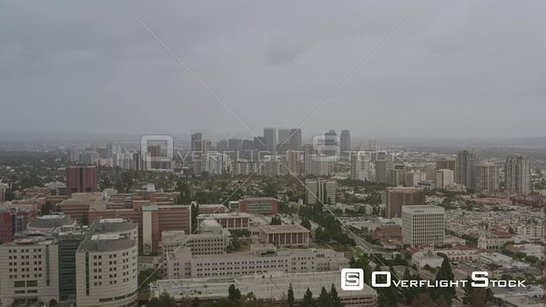 Los Angeles Panoramic Westwood college campus cityscape