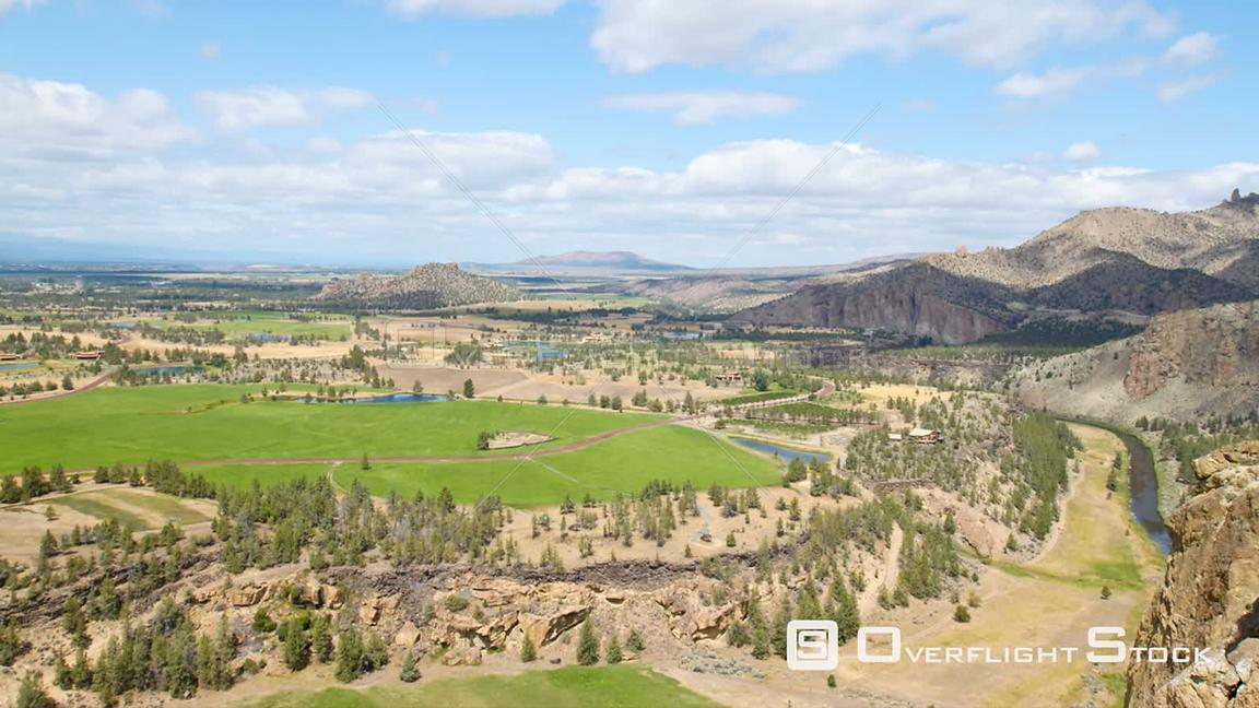 Oregon USA Time lapse of central Oregon farmland area from Smith Rocks.