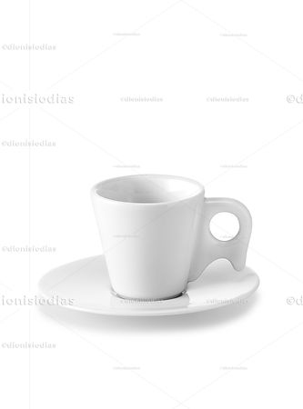 Cup with saucer of isolated dinnerware 09 with path.