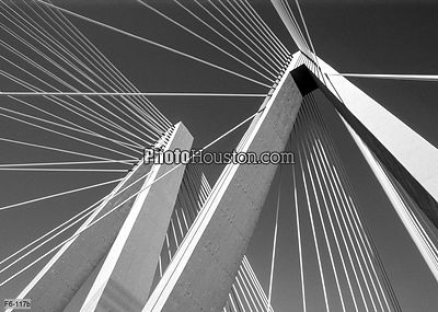 Stay cables of the Fred Hartman Bridge