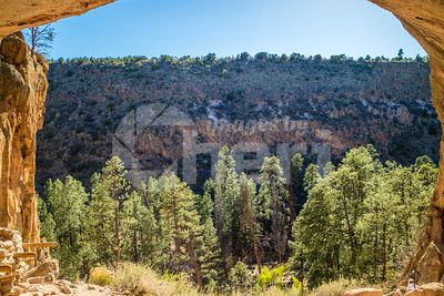 Alcove House Trail in Bandelier National Monument, New Mexico