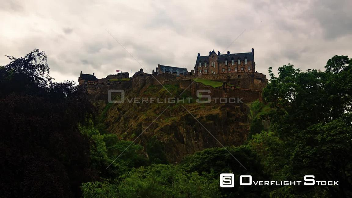 Timelapse View of Edinburgh Castle Scotland