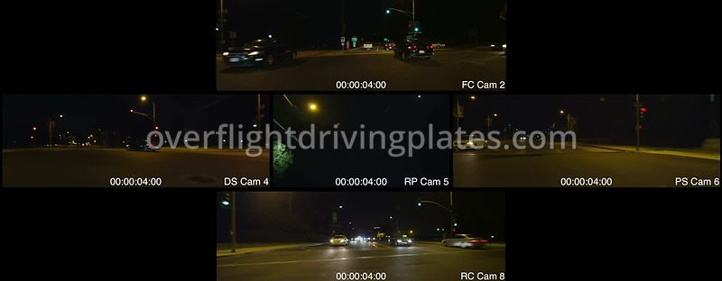 Colorado Boulevard Bridge Night  Pasadena California USA - Driving Plate Preview 2012