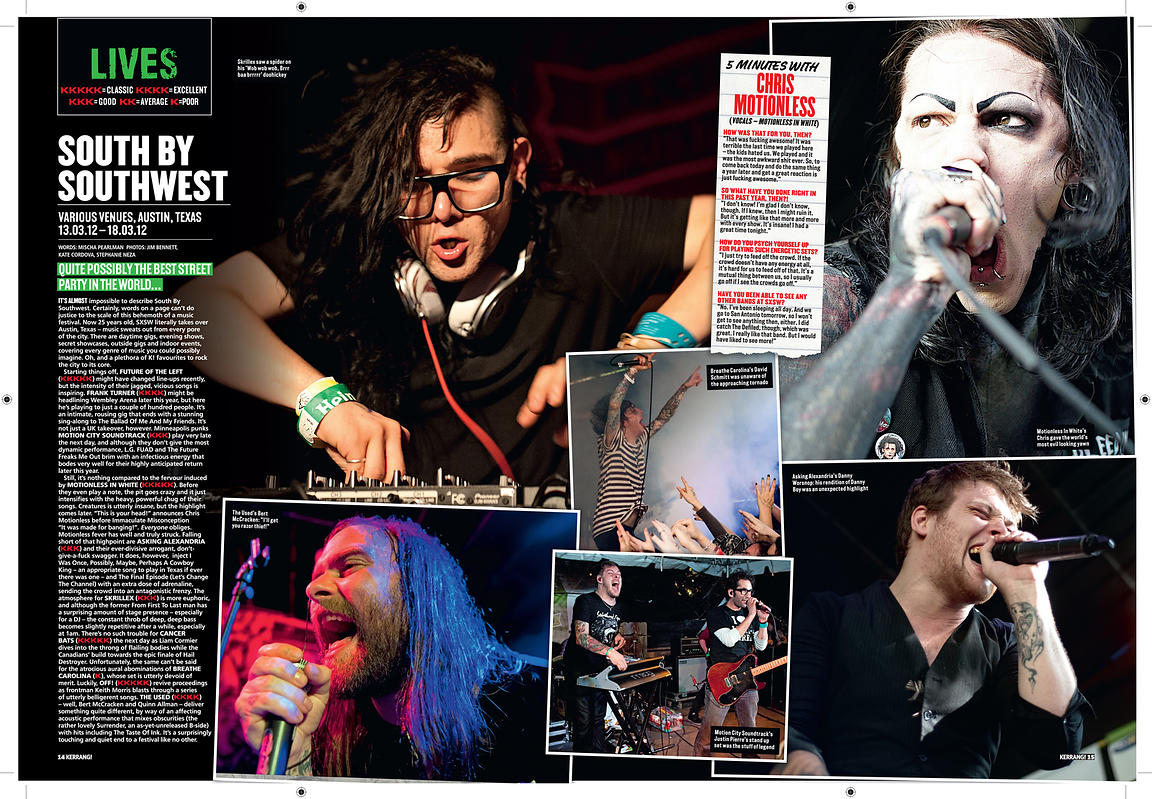 Skrillex, The Used, Motion City Soundtrack, Breathe Carolina, Motionless in White @ SXSW