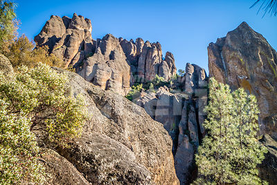 Natural rock formation in Pinnacles National Park