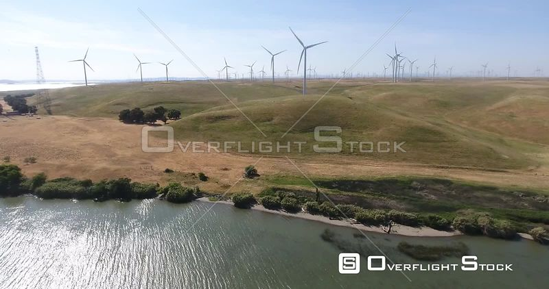 Wind Farm Sacramento River Toland Landing California