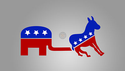 Republicans vs Democrats.