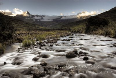 The Tugela River at the base of the Drakensberg Amphitheatre