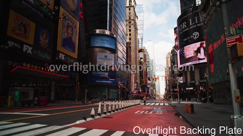 Broadway Deserted Streets During Covid-19 Pandemic Time Square Manhattan New York New York USA - BackingPlate Apr 26, 2020
