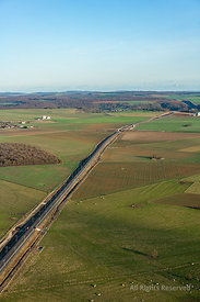 Aerial View Highway Lorraine France