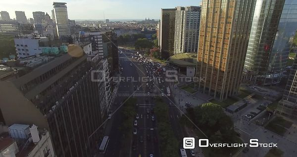 Busy Roadway in Buenos Aires Argentina