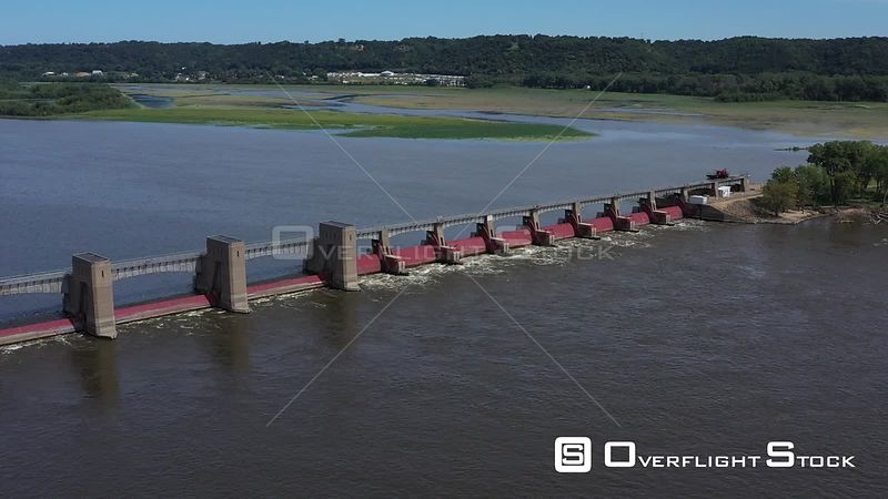 Damming the waters of the Mighty Mississippi, Dubuque, Iowa, USA