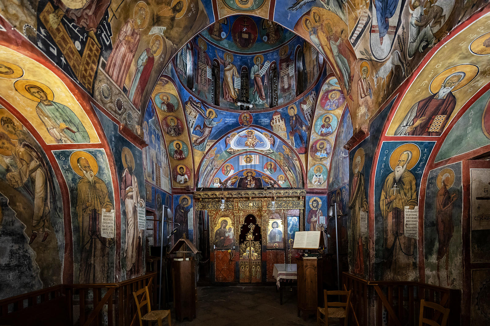 Interior of the Frescoes in Panagia Tou Araka