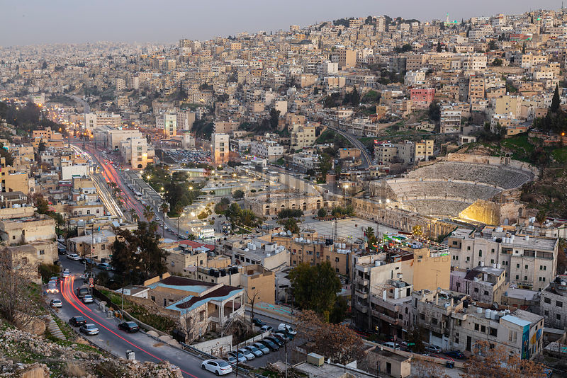 Elevated View of Downtown Amman from the Citadel
