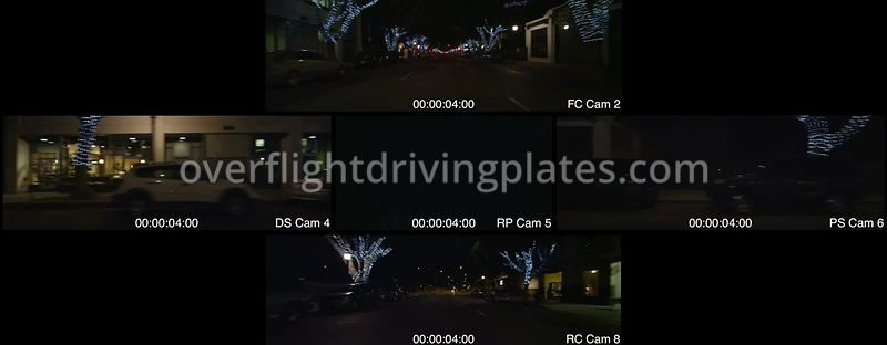 Green Street Night  Pasadena California USA - Driving Plate Preview 2012