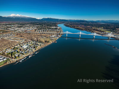 Golden Ears Bridge and Langley