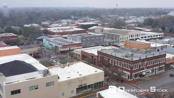 Historic Downtown Buildings and Streets, Brenham, Texas, USA