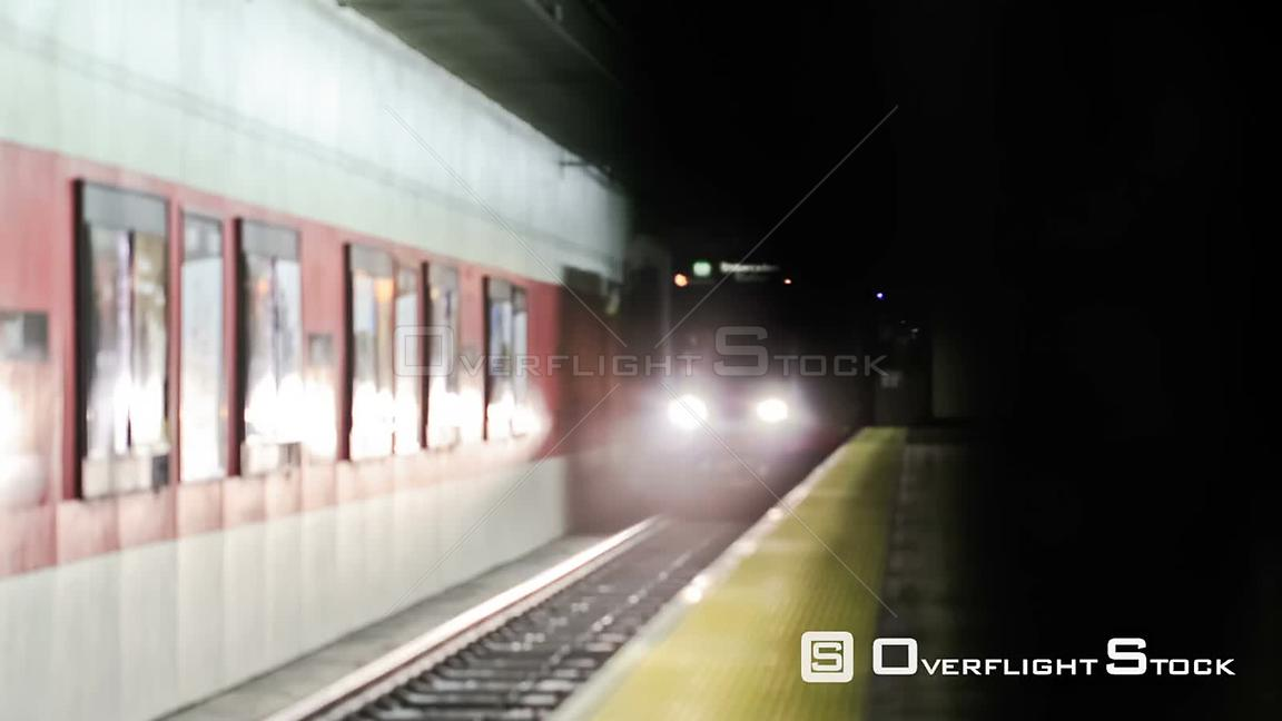 San Francisco California USA San Francisco subway time lapse.