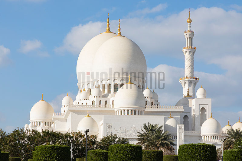 White Domes of the Sheikh Zayed Mosque