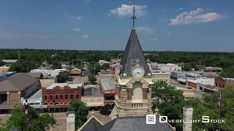 Clock Tower on top of a Courthouse, La Grange, Texas, USA