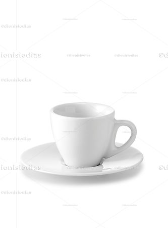 Cup with saucer of insulated dinnerware 06 with path.