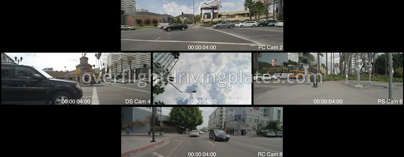Hollywood Boulevard  Los Angeles California USA - Driving Plate Preview 2012