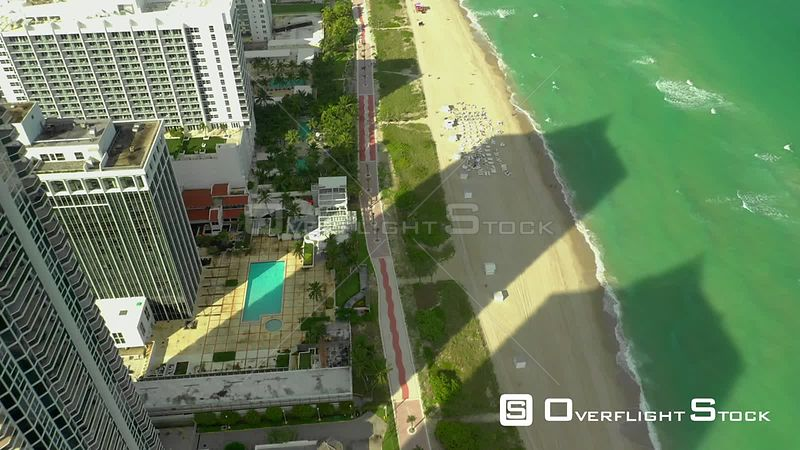 Miami Beach bike path Atlantic Greenway drone footage