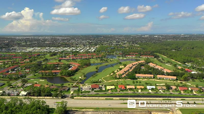 Aerial Footage Neighborhoods in Naples FL USA