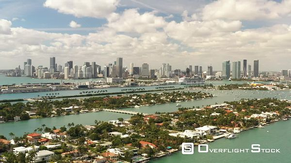 Aerial Drone Video Footage of Miami Florida United States