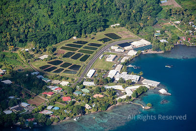 Industry on Tahiti Tropical Islands of French Polynesia