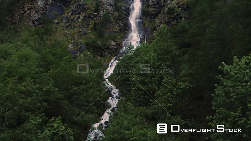 a mountain stream of water in the Italian Alps