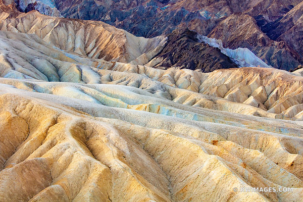 COLORFUL ERODED ROCKS ZABRISKIE POINT DEATH VALLEY CALIFORNIA