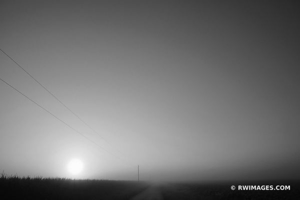 PRAIRIE SUNRISE BLACK AND WHITE