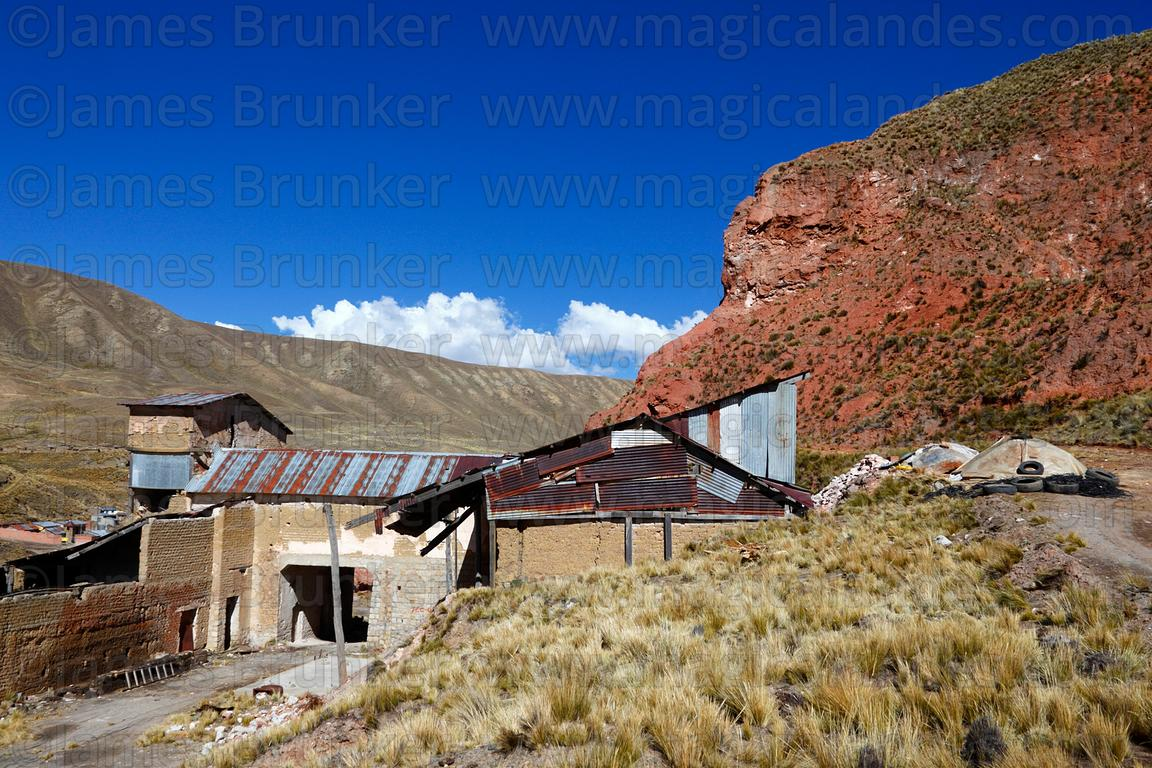 Abandoned brick factory at Achachicala Arriba, La Paz Department, Bolivia