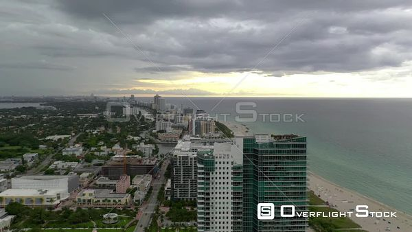 2020 Miami Beach aerial video hotels on the beach